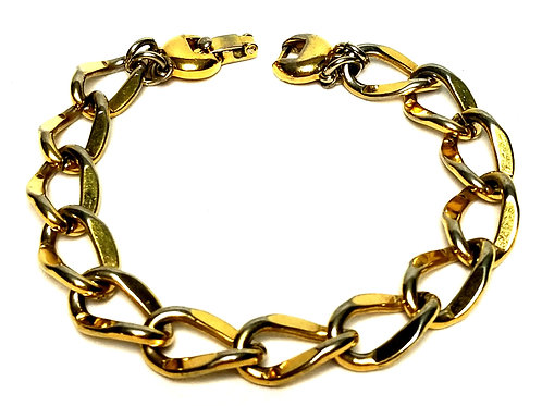 Designer by Monet, bracelet, chain links, gold tone 7 1/2 inches.
