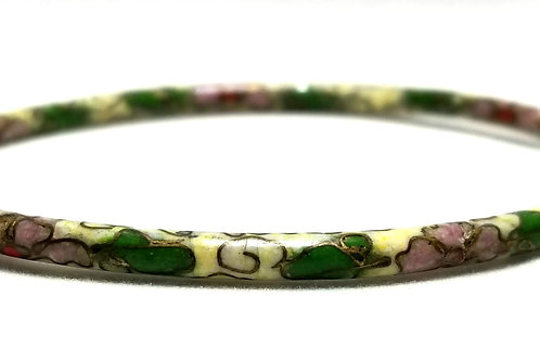 Designer by provenance, bracelet, bangle, Cloisonne motif, 6 inches.