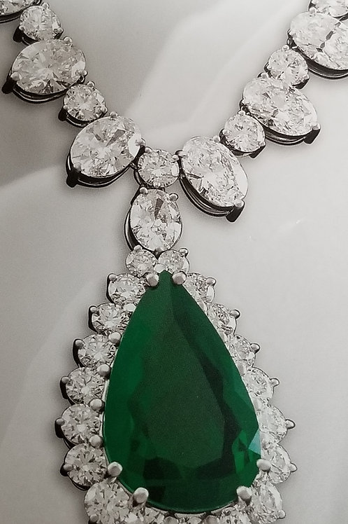 Pear-Shaped Colombian Emerald