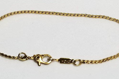 Designer by Monet, bracelet, gold tone pot metal.