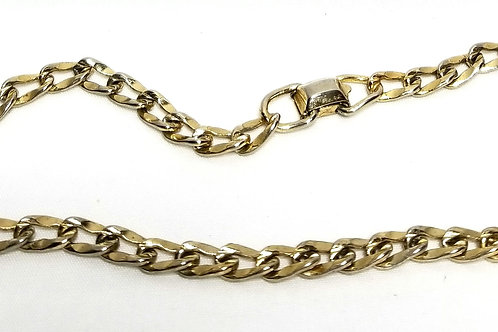 Designer by Coro, necklace, choker, gold tone links, 15 1/2 inches.