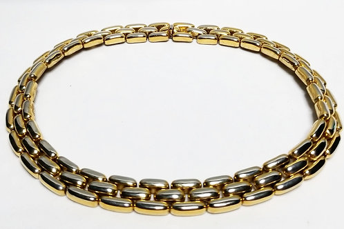 Designer by Ciner, heavy gold tone link necklace.