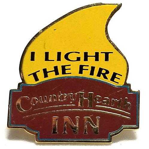 Designer by provenance, tie tack/pin, Country Hearth Inn, multi color, gold tone