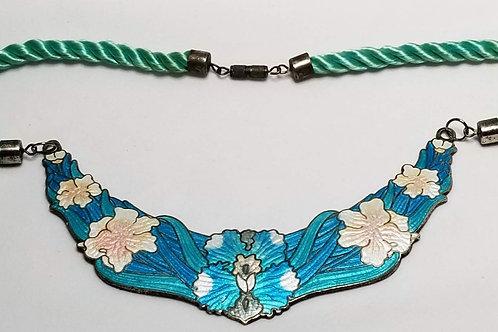Designer by CL, neck wear, necklace, flower motif, silver tone