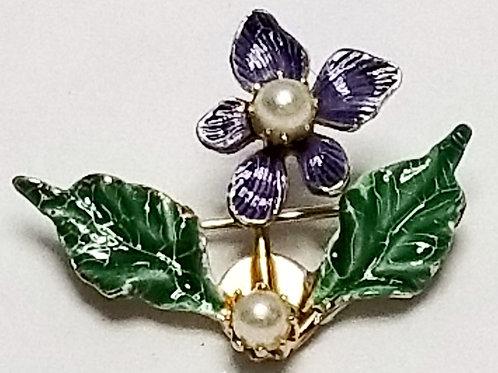Designer by SO Craft, brooch, multi color flower motif