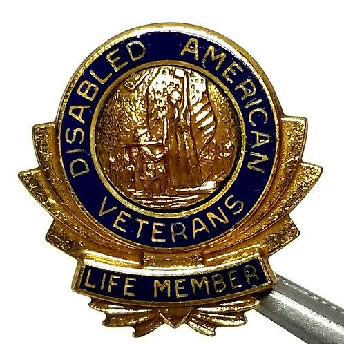 Designer by provenance, lapel pin, Disabled American Veteran, Life Member.