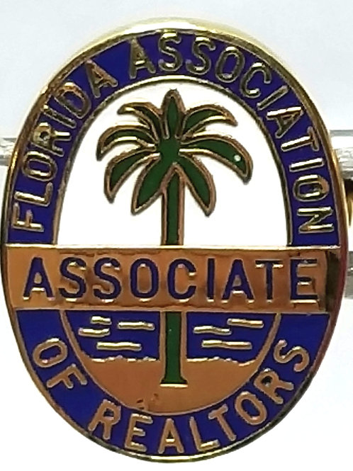 Designer by provenance, pin, Florida Association of Realtors, multi color.
