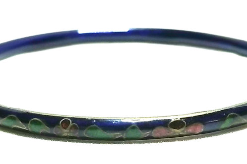 Designer by provenance, bracelet, bangle, Cloisonne motif, 6 inches.