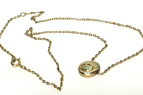 Designer by Sarah Cov, necklace, 17 1/2 inches with oval clear crystal.