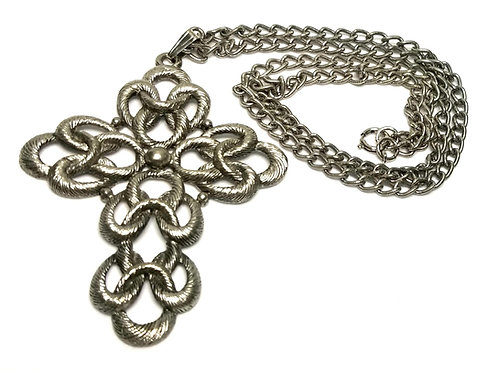 Designer by provenance, necklace, cross motif, 24 inches plus.