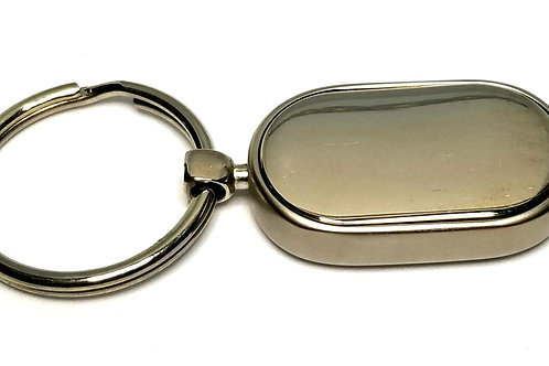 Designer by provenance, key ring, oval stainless steel.
