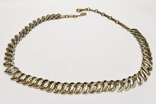 Designer by Coro, necklace, gold tone 14 -16 inch necklace.
