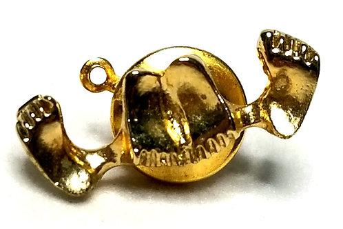 Designer by Provenance, tie tack, feet motif, gold tone, 7/8 x 1/4 inch.