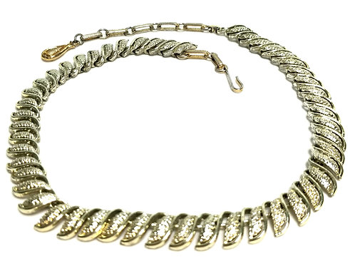 Designer by Coro, necklace, gold tone, 14 to 16 inches adjustable.