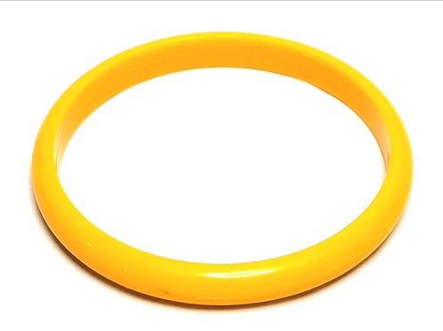 Designer by provenance, bracelet, bangle, yellow Lucite.
