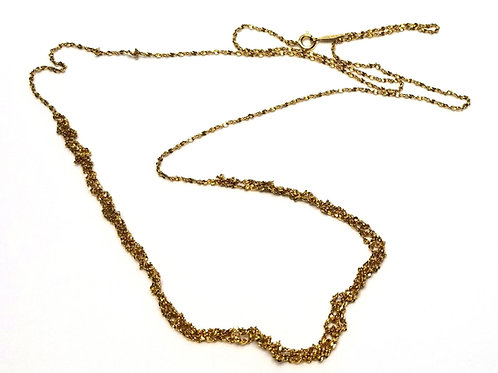 Designer by Napier, necklace, gold tone twisted rope chain motif, 30 inches.