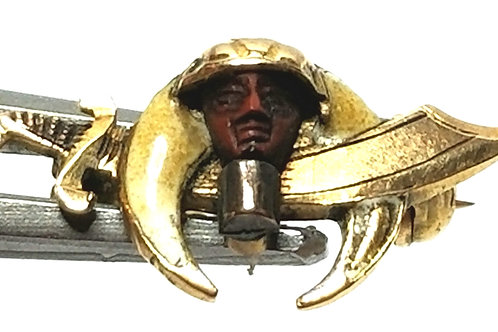 Designer by provenance, pin, Shriner's motif, multi color, 14K gold..