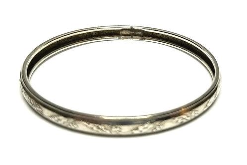 Designer by provenance, bangle, Sterling silver.