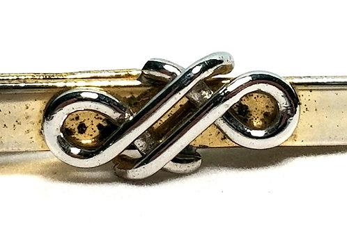 Designer by Kreisler Craft USA, tie clip, silver tone, 1 5/8 x 1/4 inch.