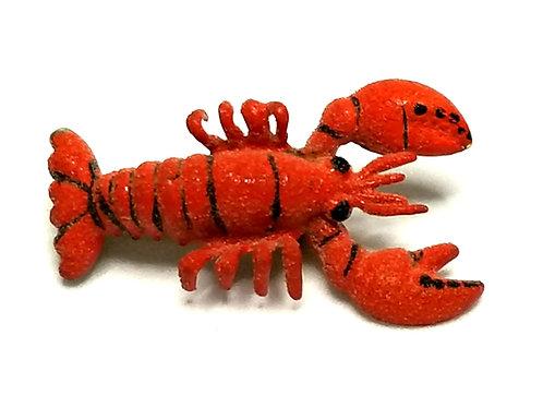 Designer by provenance, brooch, lobster motif, red and black, gold tone.
