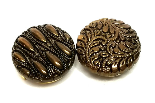 Designer by provenance, button covers (two), gold tone.