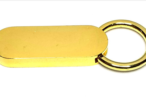 Designer by provenance, key ring, gold tone, 2 1/2 inches.