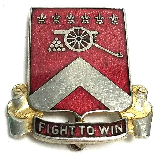 Designer by Allen Uniform Co, pin, Fight to Win motif, 1 1/8 inch.