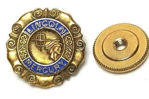 Designer by cTo, pin, early '60's Lincoln Mercury Dealers Motif, 10K.