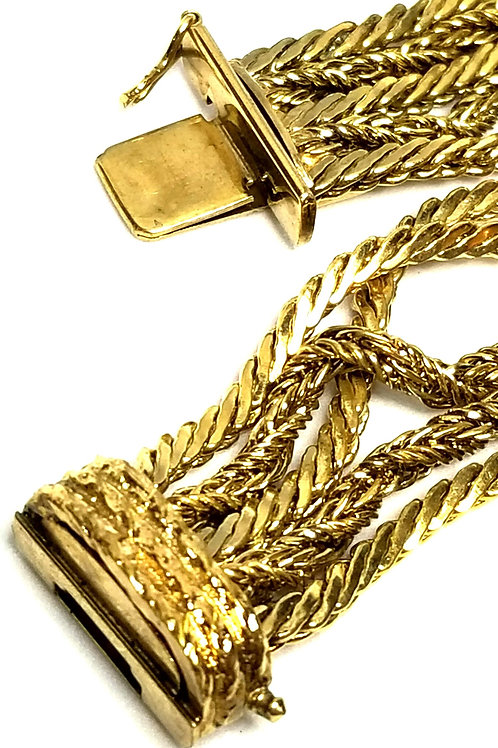 Designer by provenance, Made in Germany, bracelet, chains, gold plated.