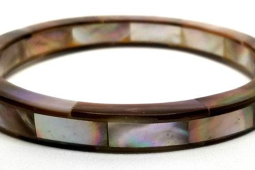 Designer by provenance, bracelet, bangle, multi color shell inlay.