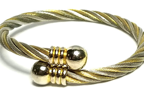 Designer by provenance, bracelet, bangle, twisted rope motif, 6 inches.
