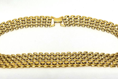 Designer by Napier, necklace, choker, gold tone 16 1/2 inches.