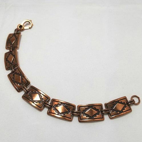 Bracelet, American Craftsman Sunrise Copper links, 7 1/2 inches long.