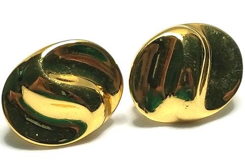 Designer by Vendome, earrings, screw clip, gold tone, 3/4 inch.