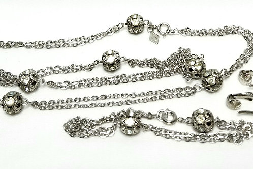 Designer By Sarah Cov, set, necklace, bracelet, and clip on drop earrings