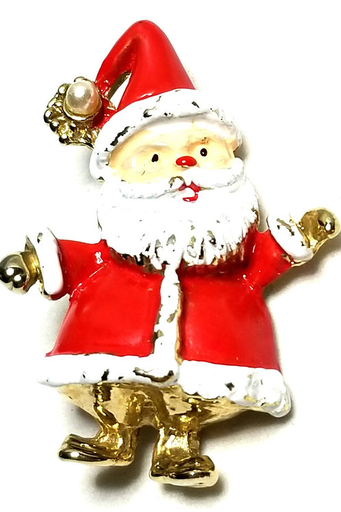 Designer by provenance, brooch, Santa motif, multi color, gold tone.