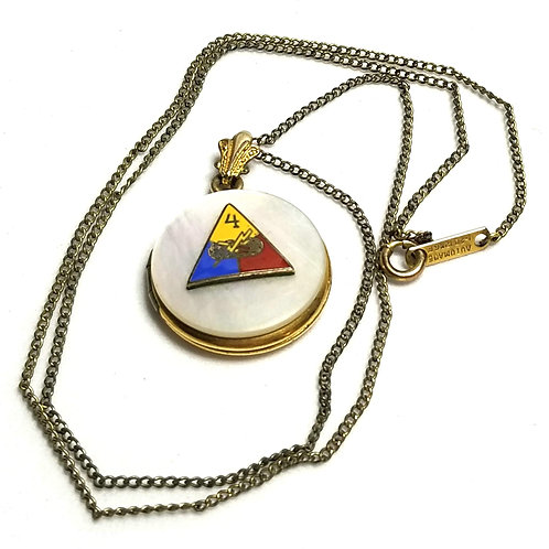 Designer by provenance, pendant locket, Women's Association motif, 12K gold fill