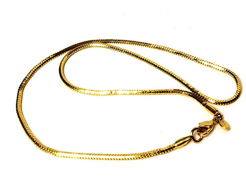 Designer by Monet, necklace, herringbone,17 inch gold tone.