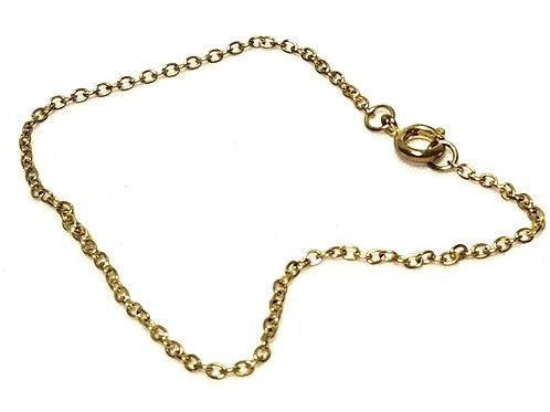 Designer by Sarah Cov, bracelet, 7 inch gold tone links.