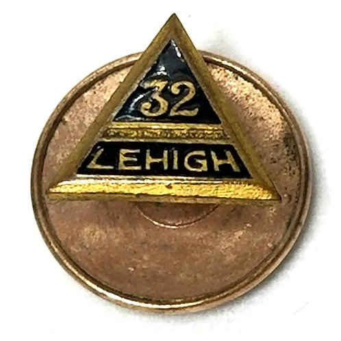 Designer by Whitehead and  Hoag Co., pin, Lehigh 32nd Degree Masonic motif.