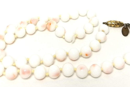 Designer by Les Bernard Inc., necklace, multi color milk glass beads, 19 inches.