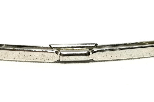 Designer by Swank, collar clip, silver tone, 2 1/8 inches.