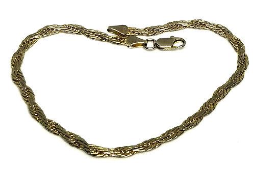 Designer by provenance, bracelet/anklet, stamped 14K, 10 inches.