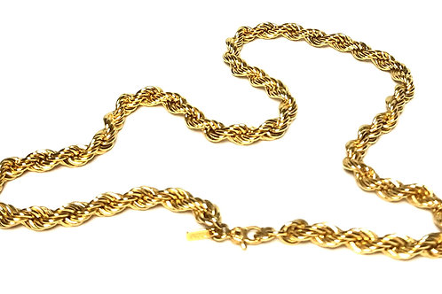 Designer by Monet, rope chain, gold tone, 16 inches.