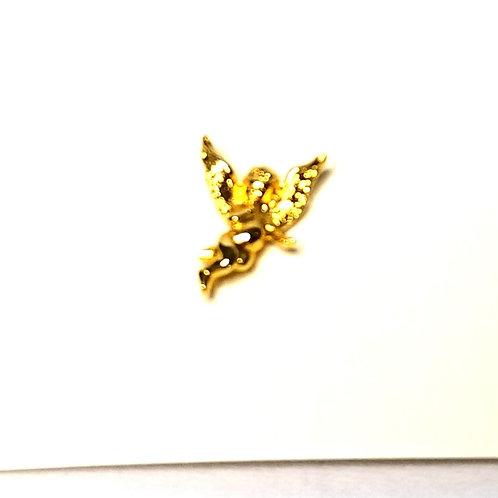 Designer by Provenance, tie tack or pin, Cherub-Angel motif, gold tone.
