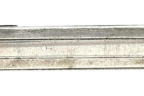 Designer by Speidel, tie clip, silver tone, 1 7/8 x 1/4 inch.