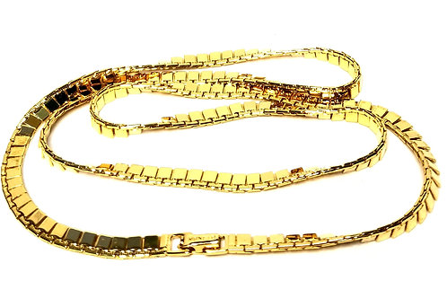 Designer by Monet, necklace, gold tone 26 inches.