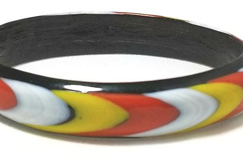 Designer by provenance, bracelet, multi-colored bangle, 6 1/2 inches