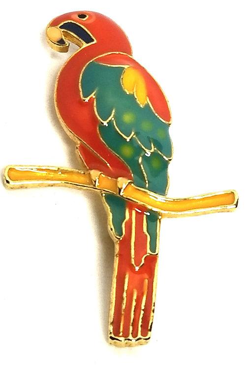 Designer by Provenance, brooch, parrot motif, multi color in gold tone.