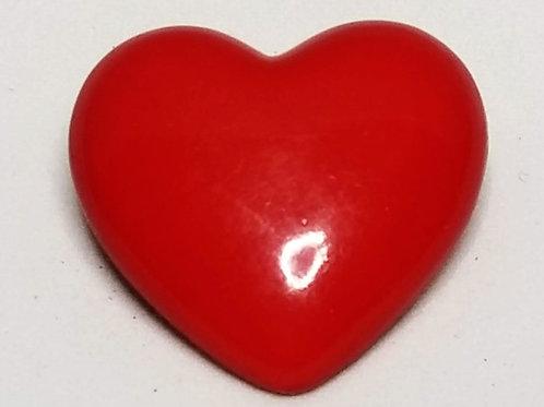 Designer by Hallmark, brooch, heart motif, red in gold tone pot metal.